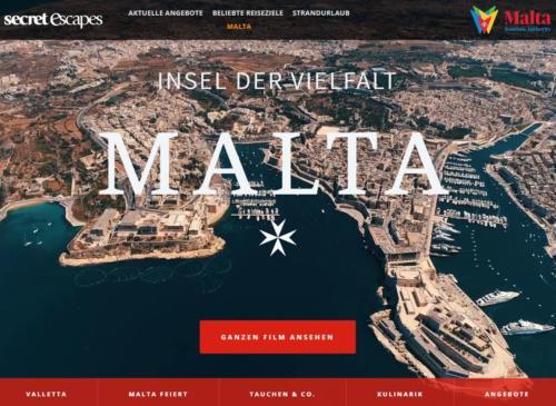 Secret Escapes Media Sales: Malta-Microsite