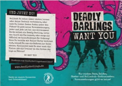Flyer für die Deadly Darlings