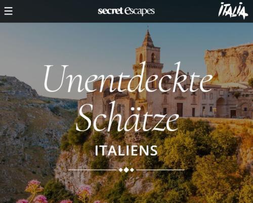 Secret Escapes Media Sales: Italien-Microsite